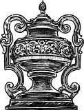 Architectural vase. Vector image of the architectural decorative vase Stock Photos