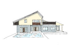 Architectural vector sketch Royalty Free Stock Image