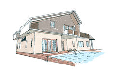 Architectural vector sketch Stock Photography