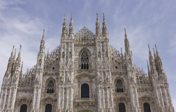 Architectural view of Milano Duomo cathedral stock photography