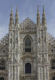 Architectural view of Milano Duomo cathedral royalty free stock photo