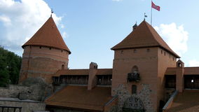 The architectural view of the old castle in Trakai  GH4 4K UHD stock video