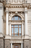 Architectural window with columns and moldings barilefom Royalty Free Stock Photos