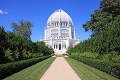 Architectural Wonder. The Bahai Temple, House of Worship in Wilmette, IL Stock Photography