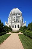 Architectural Wonder. The Bahai Temple, House of Worship in Wilmette, IL Stock Photos