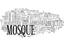 Architectural Wonders Of Ahmedabad Word Cloud Stock Image