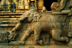 Architectural wonders from the ancient world. Wall mural depicting the architectural details of splendidly carved horse chariot employed by the royal ancient Royalty Free Stock Image