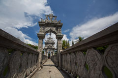 Architectural wonders at the Karangasem water temple Royalty Free Stock Photography