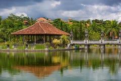 Architectural wonders at the Karangasem water temple Royalty Free Stock Photos