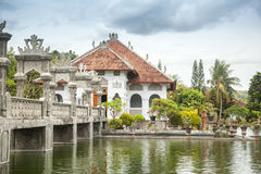 Architectural wonders at the Karangasem water temple in Bali, In Stock Image