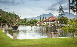 Architectural wonders at the Karangasem water temple in Bali, In Royalty Free Stock Images