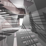 Architecturale achtergrond vector illustratie
