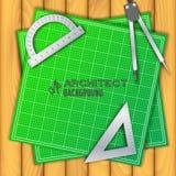 Architecturale achtergrond Vectorillustratie, Royalty-vrije Stock Fotografie