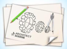 Architecturale achtergrond Vectorillustratie, Royalty-vrije Stock Foto