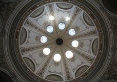 Architecturale artistieke decoratie op Hofburg-paleis, Wenen Stock Fotografie