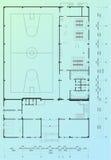 Architecturale blauwdruk Royalty-vrije Stock Foto's