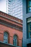 Architecturale contrasten stock afbeelding