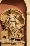 Architecturale decoratie van het inbouwen van Praag, Tsjechische Republiek stock foto