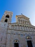 Architecturale details bij de ingang aan de kathedraal van Cagliari, Sardinige stock foto's