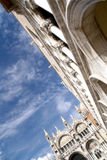 Architecturale details - het Vierkant van San Marco in Venetië Stock Fotografie