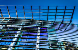Architecturale details in Pennsylvania Convention Center in P royalty-vrije stock afbeeldingen