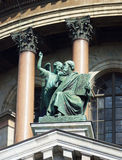 Architecturale details van de Kathedraal van Heilige Isaac in St. Petersburg Rusland Stock Afbeeldingen
