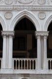 Architecturale details van het Paleis van de Doge Royalty-vrije Stock Fotografie