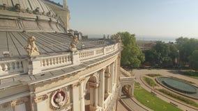 Architecturale details van Odessa Opera en Ballettheater stock videobeelden