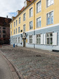 Architecturale details van oud stadscentrum in Riga, Letland Stock Afbeelding
