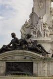 Architecturale dichte omhooggaand van Koningin Victoria Memorial Royalty-vrije Stock Foto's