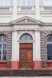 Architecturale kolommen, de boog van het oude gebouw stock foto
