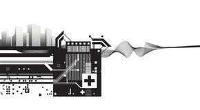 Architecturale moderne ontwerpvector vector illustratie