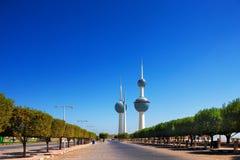 Architecturale pictogrammen van de Stad van Koeweit Stock Afbeeldingen