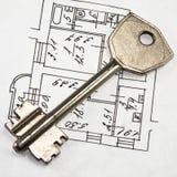 Architecturale plan en sleutel Stock Foto