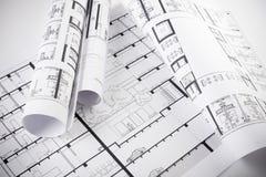Architecturale plannen Stock Fotografie