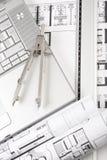 Architecturale plannen Stock Foto