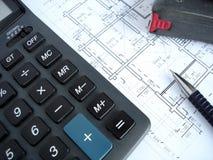 Architecturale plannen Stock Afbeeldingen