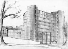 De bouwschets van de bank Stock Afbeeldingen