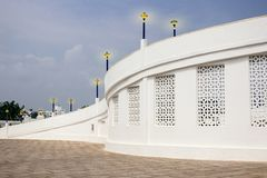 Architecturale speciale ingang aan velamkanikerk royalty-vrije stock foto's