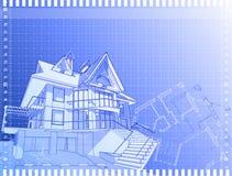 Architecturale technisch trekt Stock Foto