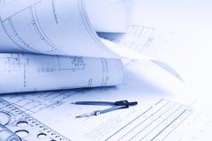 Architecturale tekening stock afbeeldingen