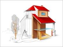 Architecturale Tekening Stock Afbeelding