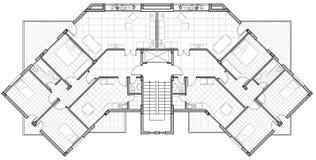 Architecturale tekening Stock Foto