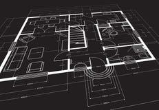 Architecturale tekening royalty-vrije illustratie