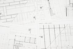 Architecturale tekening Royalty-vrije Stock Afbeeldingen