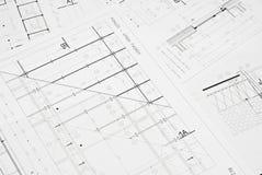 Architecturale tekening Royalty-vrije Stock Foto