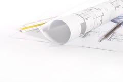 Architecturale tekeningen Royalty-vrije Stock Afbeelding