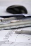 Architecturale tekeningen Royalty-vrije Stock Fotografie