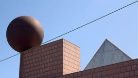 Architecturale trigonometrie in Barcelona Royalty-vrije Stock Afbeelding