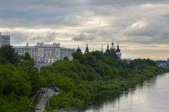 Architecturale Tyumen en bouwuniversiteit Royalty-vrije Stock Foto